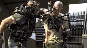 "Matt Damon doing his best to not look exactly like Dr. Octopus in ""Elysium"""