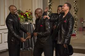 Lance (Morris Chestnut), Harper (Taye Diggs), Murch (Harold Perrineau), and Quentin (Terrence Howard) are all smiles after their amazing 'air band' moment.