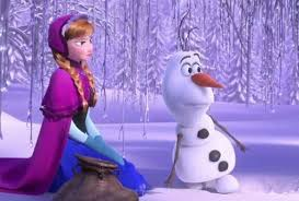 Anna (Kristen Bell) and Olaf (Josh Gad) anxiously await the next musical number.
