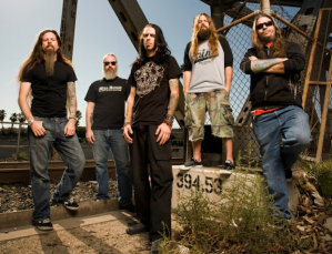 The members of Lamb of God- a band name you could probably sneak past your local church music director.
