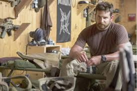 Chris Kyle (Bradley Cooper) reflects after his first combat casualty.